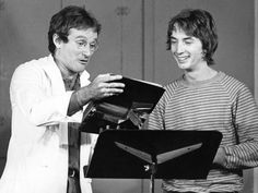 A photo of Robin Williams and Canadian comic Martin Short posted by Second City Toronto on Twitter in the wake of Williams' passing.