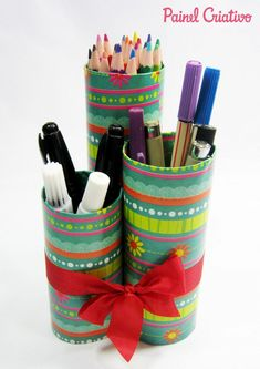 Tissue Roll Crafts, Kids Desk Organization, Diy And Crafts, Crafts For Kids, Toilet Paper Roll, Washi Tape, Decorative Items, Card Stock, Projects To Try