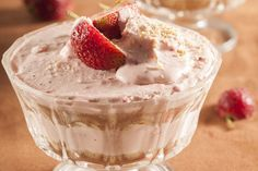 No-bake cheesecake • All you need to do is combine the ingredients and arrange in serving glasses.