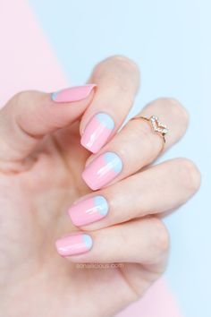 Rose Quartz and Serenity || Pantone color of the year 2016 nails