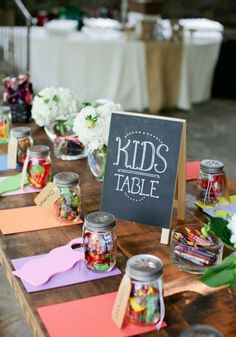 Have an extra table for the kids