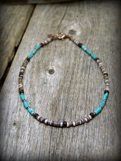 mens necklace turquoise necklace Surfer Necklace mens jewelry