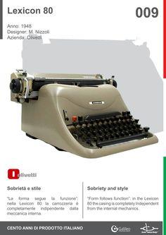 Lexicon 80 by Marcello Nizzoli for Olivetti (1948)