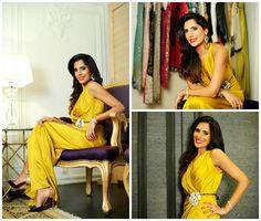 "Maha Ahmad wearing Sana Safinaz dress for her ""In My Wardrobe shoot for HELLO Pakistan! #sanasafinaz"