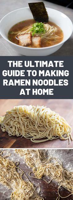 Asian Noodle Recipes, Ramen Recipes, Asian Recipes, Cooking Recipes, Ethnic Recipes, Homemade Ramen Noodle Recipes, Home Made Ramen Noodles, Healthy Ramen Noodles, Japanese Ramen Noodles