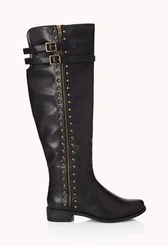 Total Stud Over-the-Knee Boots | FOREVER21! They r gorgeous in brown:)