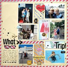 Hybrid page by Sanna Lippert using Sweet Thing digital kit by The Nifty Pixel