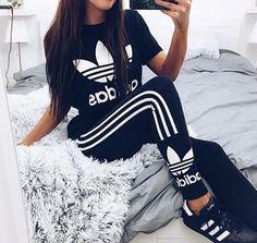 Imagem de adidas, black, and style