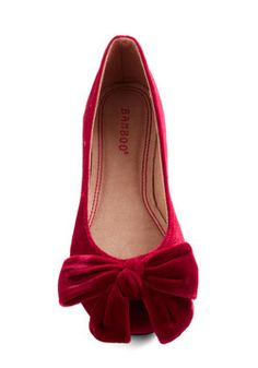 Point Your Bows Flat in Ruby, #ModCloth