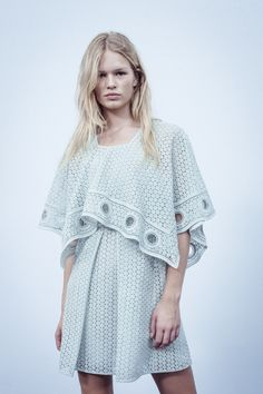 Guipure lace is soft yet strong for Spring-Summer 2015
