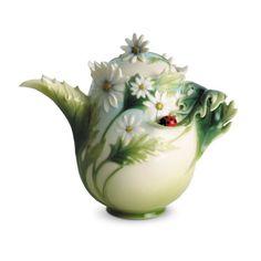 Franz Porcelain Ladybug Design Teapot
