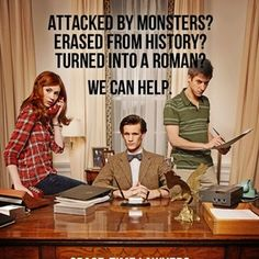 Amy Pond, the Doctor, Rory Williams