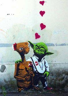 E.T and Yoda. Cutest couple