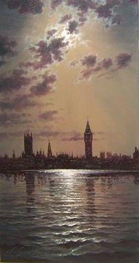 Hornchurch Fine Art Moonlite Parliament No.1 - Andrew Kurtis - Artist Originals