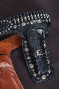 The Lone Ranger Gun belt by Edward Bohlin heads to auction for the first time. All handmade sterling silver conchos and buckles.