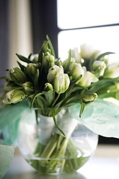 55 New Ideas for wedding bouquets white tulips vase
