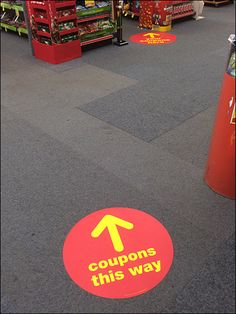 Simple temporary guidance: floor stickers
