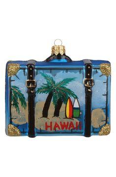 Hawaii Suitcase Ornament