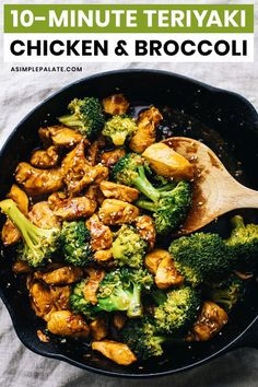 Make takeout at home with this easy flavorful teriyaki chicken broccoli Minimal ingredients no marinating required and only 10 minutes to cook up. Serve this juicy chicken and homemade teriyaki sauce over rice as a quick dinner or meal prep Healthy Dinner Recipes For Weight Loss, Easy Dinner Recipes, Easy Meals, Dinner Healthy, Healthy Dinner With Chicken, Whole 30 Easy Recipes, Healthy Recipes For Dinner, Healthy Delicious Recipes, Healthy Teriyaki Chicken