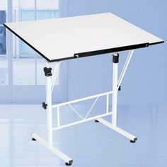Martin Universal 36 x 24 in. SMART Drafting Table by Martin Universal. $74.84. Table adjusts from 27.5 to 32 inches. Cross-braced frame, with foot levelers for stability. Some assembly required. Durable white laminate table top, steel base. Dimensions: 36W x 24D x 27.5H inches. The Martin Universal 36 x 24 in. SMART Hobby & Craft Table can be adjusted to accommodate youth to adult artists. Simply use the easy-grip knobs to adjust the height anywhere from 27.5 inches to 32 inche...