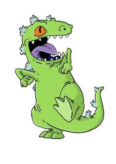 cartoon i drew of reptar from the rugrats Rugrats Cartoon, Nickelodeon Cartoons, Cartoon Art, Cartoon Characters, Cartoon Legs, Reptar Rugrats, Kritzelei Tattoo, Cartoon Tattoos, Cartoon Stickers