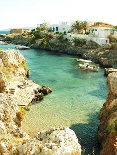 avlemonas village, kythera, greece