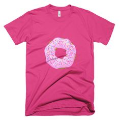 Men's Strawberry Glaze Donut Short Sleeve T-shirt