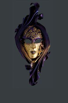 Siderea venetian mask, ball mask, masquerade mask, carnival venetian mask in papier macheIgnis