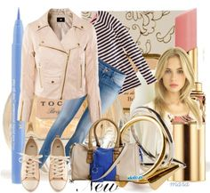 """""""Comfty in stripes"""" by marastyle ❤ liked on Polyvore"""