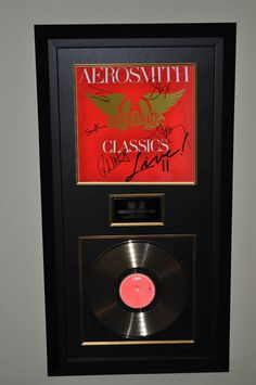 Aerosmith – Classics Live II - Hand signed by: Steven Tyler – Joe Perry – Tom Hamilton – Brad Whitford – Joey Kramer. #aerosmith #musiccollectibles See the Collection: http://www.rockstargallery.net/framed-signed-albums