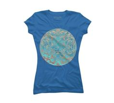flower of life 16 Women's 2X-Large Royal Blue Graphic T-Shirt, Size: XXL