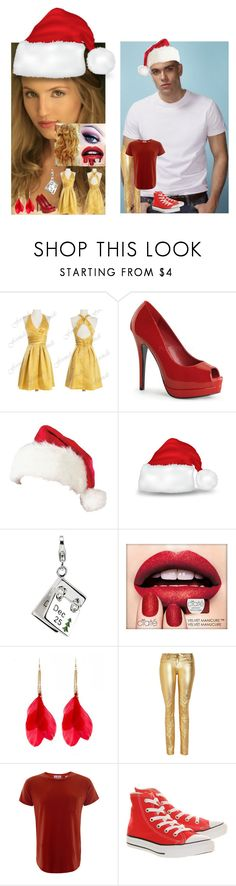 """Glee:Christmas:Puck and Quinn"" by glee2shake ❤ liked on Polyvore featuring Amore La Vita, Ciaté, Faith Connexion, Levi's and Converse"