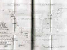 Christopher Nolan's hand-drawn timeline for Inception