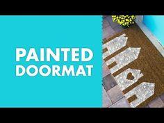 DIY Painted House Doormat - Sarah Hearts