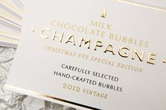 MILK CHOCOLATE BUBBLES CHAMPAGNE / 2012 on Behance