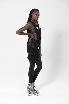 Crushed Velvet Fluro Black Leggings › Black Milk Clothing