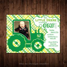 Our Little Deere Birthday Invitation  by TheSCDesignStudio on Etsy