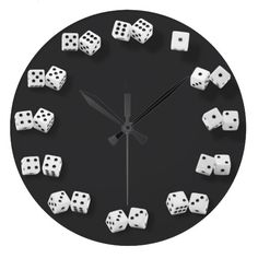 Shop Numbered Dice Novelty Clock created by FineDezine.