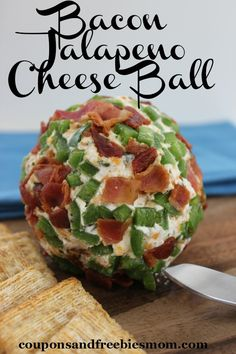 What's a party without a cheese ball? Make this delicious Bacon Jalapeno Cheese Ball for your next party!  So simple, so delicious and of course featuring the worlds best food: BACON!  Click to print this recipe today!