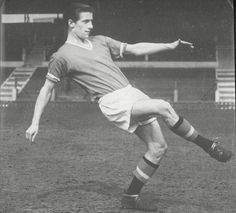 Teenage kicks: Dennis Violett arrived at Manchester United as a 16-year-old speedy striker