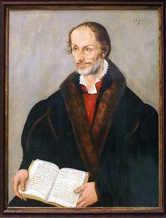 Lucas Cranach d. J., Bildnis Philipp Melanchthons (Portrait of Philipp Melanchthon)   by HEN-Magonza