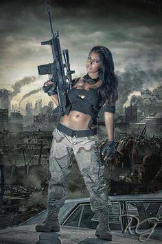 Girl With Gun   http://girlandguns.tumblr.com/
