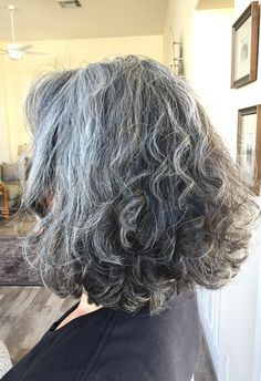 Salt and pepper gray hair. Grey hair. Silver hair. White hair. Granny hair don't care. No dye. Dye free. Natural highlights. Aging and going gray gracefully. Transition to gray hair.