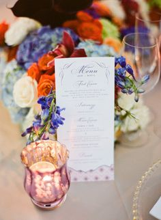 #menus  Photography by ktmerry.com  Event + Floral Design by karlaevents.com/    Read more - http://www.stylemepretty.com/2012/06/29/miami-wedding-at-vizcaya-museum-gardens-by-kt-merry/