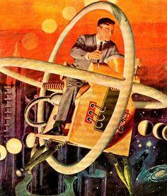 Lou Cameron, 1951. Rare & Wonderful 1950s Space Art.