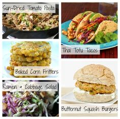 Vegetarian and vegan dinner ideas: Thai tofu tacos, baked corn fritters and more...