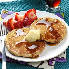 Brown Sugar Oatmeal Pancakes Recipe from Taste of Home