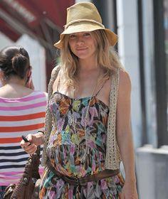 Sienna Miller, fiel a su estilo, en la recta final de su embarazo #actress #people #celebrities #pregnant #style