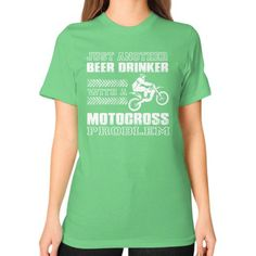 Motocross problem Unisex T-Shirt (on woman)