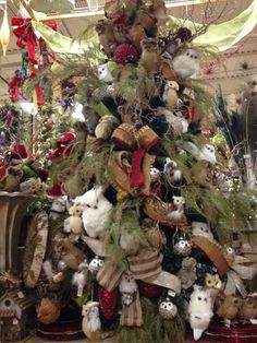 Owls Christmas Tree by Arcadia Floral and Home Decor.